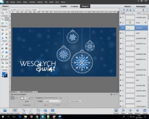 projekt kartek świątecznych - PhotoShop